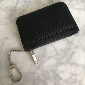 Louis Vuitton Accessories - Louis Vuitton Black Epi Leather Key Pouch
